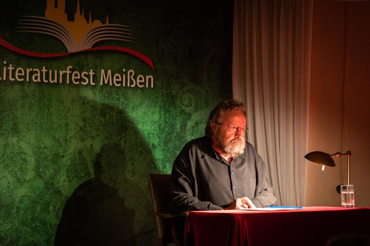 Albrecht Goette in der Webergasse Literaturfest Meißen 2021